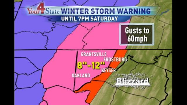 Blizzard, Winter Storm Warnings & Wind Advisory in Effect for Four State