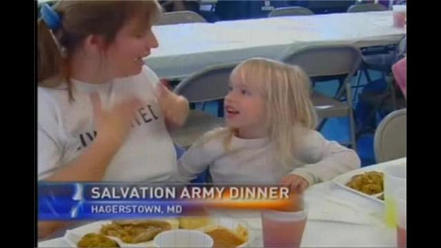 Families Celebrate Thanksgiving at Salvation Army