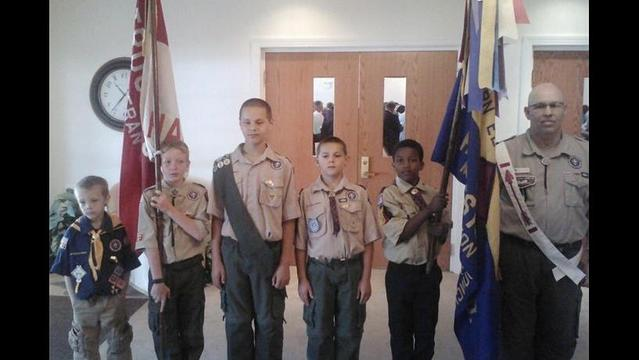 BRAGGIN': Boy Scouts from Troop 10, Cub Scout Pack 34