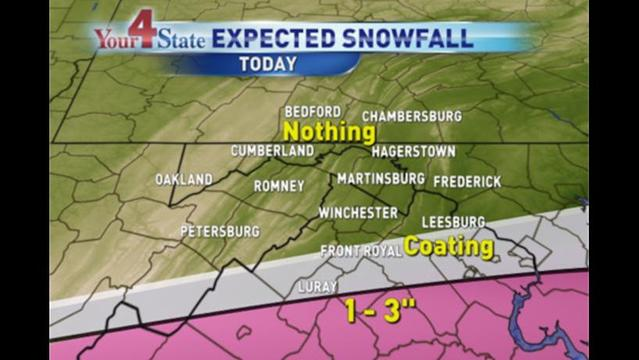 Light Snow in Central Virginia: Winter Weather Advisory in Effect