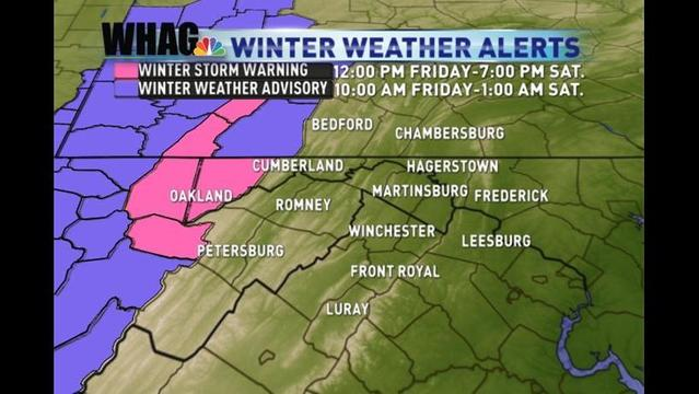 Winter Storm Warning & Winter Weather Advisories Issued; Snow Expected Friday