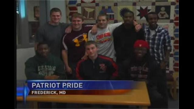 Patriots Proud at Thomas Johnson as Ten Student Athletes Sign