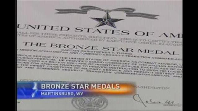 Airmen Honored With Bronze Star Medals
