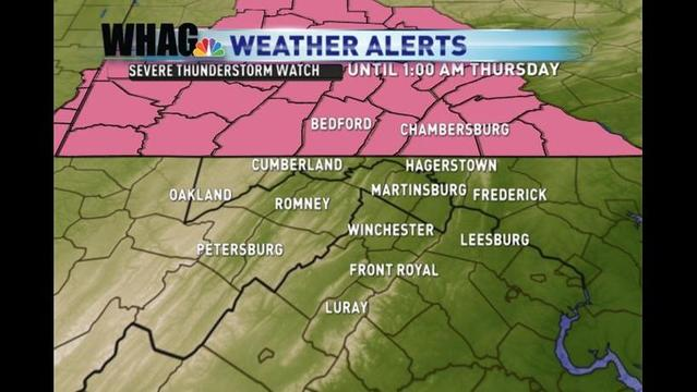 Severe Thunderstorm Watch Issued Through Late Wednesday Night