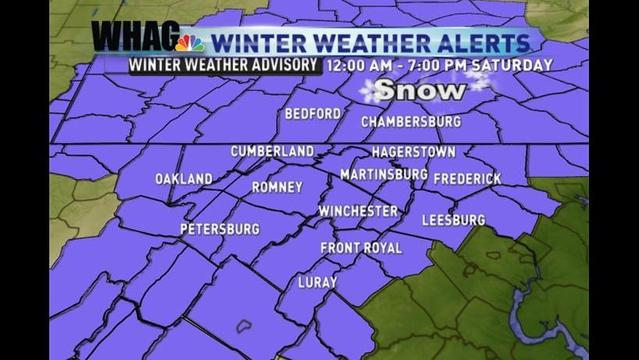 Winter Weather Advisory Expanded; Accumulating Snow Likely Saturday