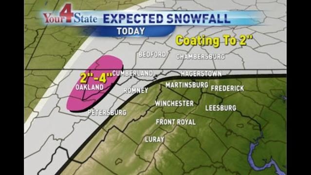 A Mix of Rain and Snow Ends By Midday Tuesday