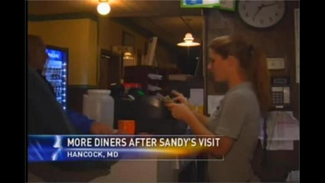 Sandy Invites Rain, Gusts, Snow & More Diners