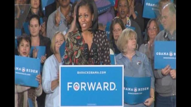 First Lady Campaigns in Northern Virginia