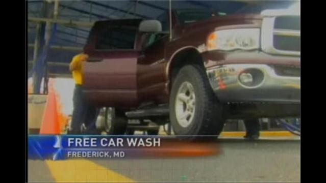Veterans Get Free Car Washes in Frederick