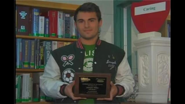 Joesph Miller, Hagerstown Ford/WHAG Male Student Athlete Dec.