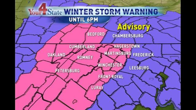 Accumulating Snow Expected for Four State Region, Winter Storm Warnings, Weather Advisories in Effect