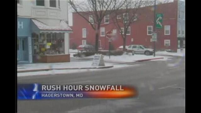 Crews Work to Clear Snowy Roads in Hagerstown