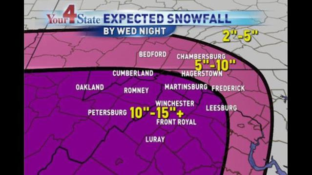 Alan's Forecast: Winter Storm Warning from 6pm Tuesday to Wednesday Night