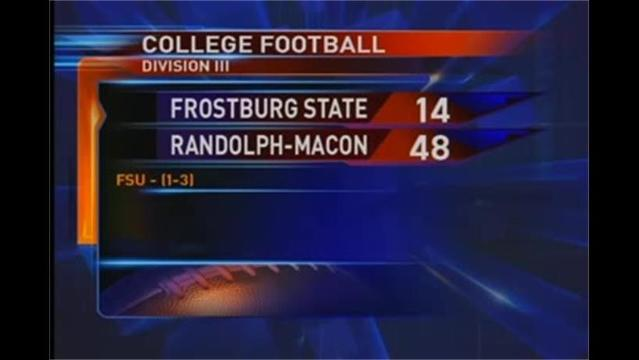 Frostburg State vs . Randolph-Macon  Football 9/25