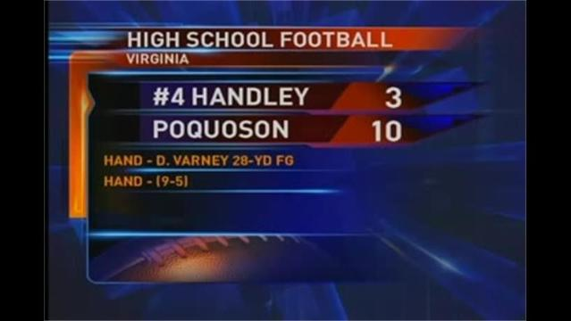 Handley vs. Poquoson Football 12/4