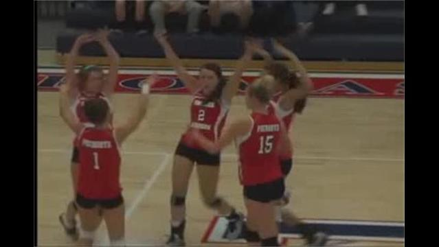 Thomas Johnson defeats Urbana in Volleyball State Tournament