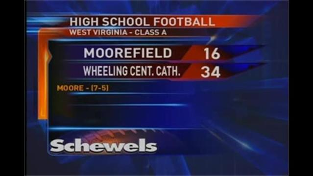 Moorefield loses to Wheeling Central Catholic 34-16