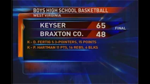 Keyser vs Braxton Co. WV Boys Basketball Regional Playoffs