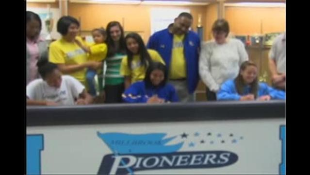 3 Millbrook Lady Pioneers sign to play College Basketball