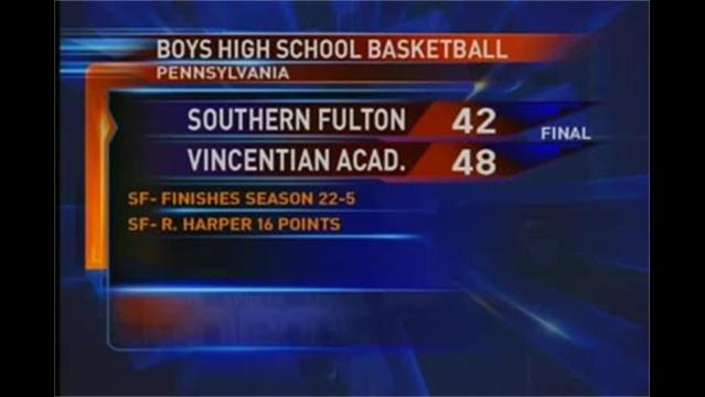 S. Fulton vs Vincentian Acad. PIAA 1-A Boys Basketball playoffs