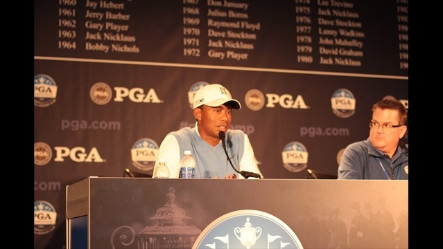 Mickelson, Woods Speak to the Media