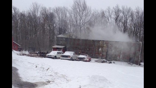 Fire Marshal Investigates Large Storage Unit Fire