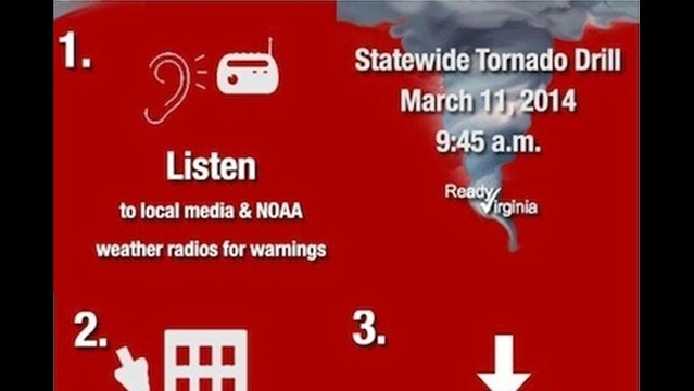 National Weather Service & VDEM To Hold Statewide Tornado Drill Next Week