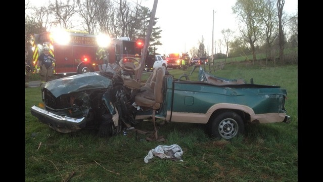 Smithsburg EMS Respond to Two Men Trapped in Car