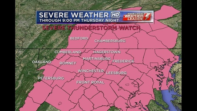 Severe Weather: Bryan's Thursday Evening Forecast: 7/3/14
