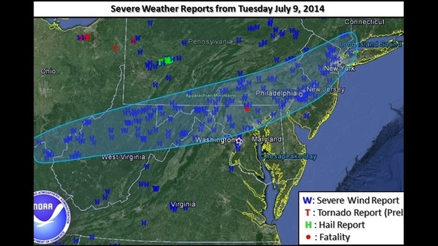 Severe Thunderstorms Blast Through The Region Tuesday Evening