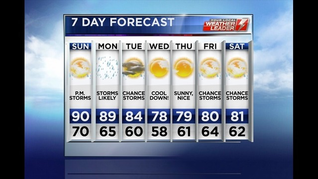 Stephanie's Sunday Forecast 7/13/14