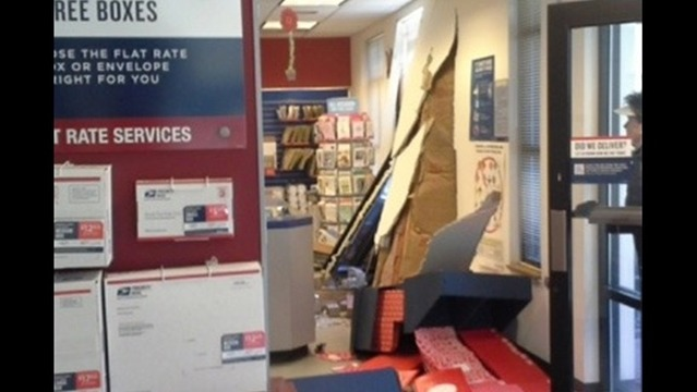 Vehicle Crashes into Hedgesville Post Office