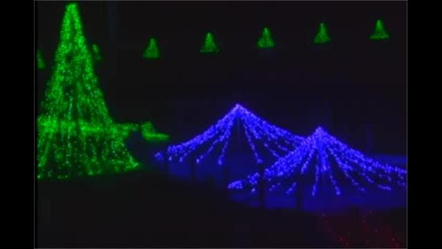 local amusement park shows holiday cheer with light show - Local Christmas Light Shows