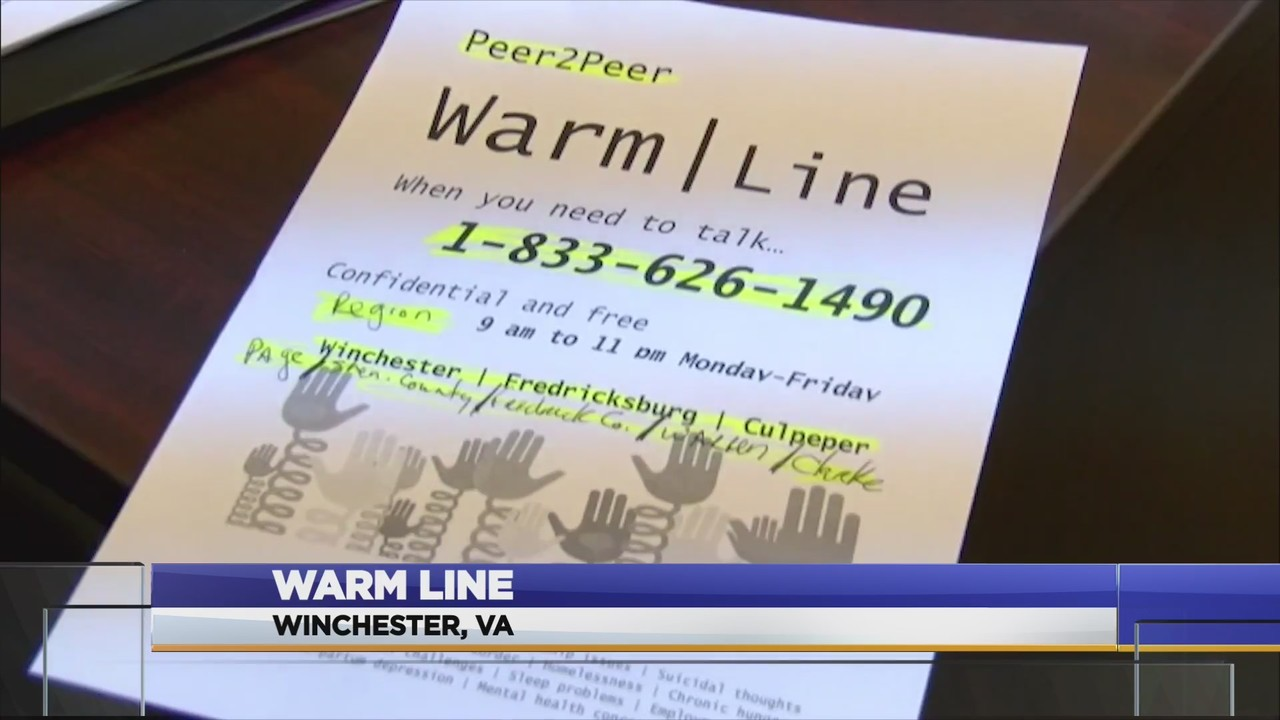 New Warm Line Connect With A Peer
