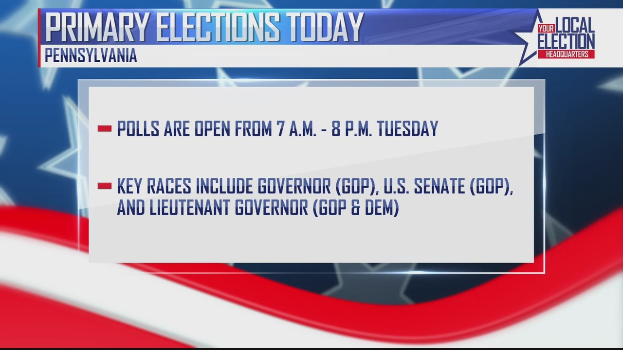 Primary elections today in Pennsylvania - LocalDVM