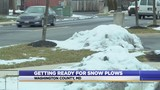 Use caution when snow plows are on the road