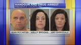 Three people arrested for gun and drugs in Frederick County