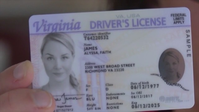 drivers license number virginia